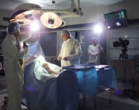 Bill Chvala and crew work in a state-of-the-art operating room for Good Samaritan Hospital.