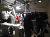 Lighting is important to a dramatic scene for Cheyenne Heart Center.