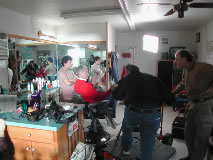 A slice of life filmed in a barber shop for Good Samaritan Hospital.