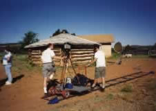 "On location for Bethphage: Filming traditional Navajo home in New Mexico for the award-winning video""The Triumph of Success""."