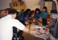 On location for Bethphage:Therapist working with Navajo Children.