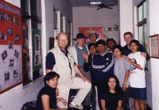 Bill and crew with migrant workers from Indonesia. Used in the video Walking from the Shadows: The Story of the Migrant Worker.